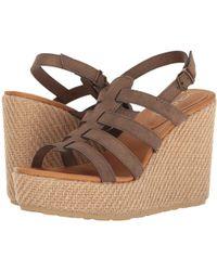 Volcom - High Society Sndl Women's Sandals In Brown - Lyst