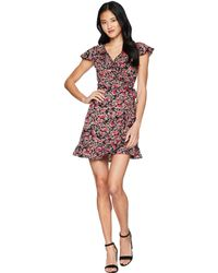 Romeo and Juliet Couture - Short Sleeve Floral Dress - Lyst