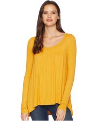 8ca77676ed173 Lyst - Free People Saachi Smocked Top in Natural - Save 13%