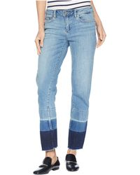 Two By Vince Camuto - Light Indigo Color Block Release Hem Crop Jeans In Spectrum Blue - Lyst
