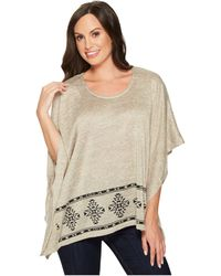 Roper - 1419 Poly Cotton Sweater Knit Poncho - Lyst