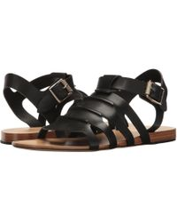 Rag & Bone - Paneled Leather Sandals - Lyst