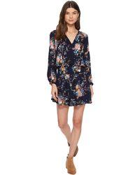 Lucky Brand - Drop Waist Printed Dress - Lyst