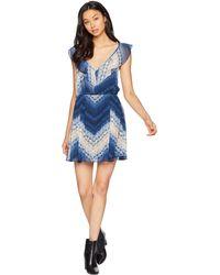 BCBGeneration - Sleeveless Shibori Chevron Dress - Lyst