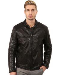 Marc New York - Mac Lightweight Calf Moto Jacket W/ Chest Zipper Pockets - Lyst
