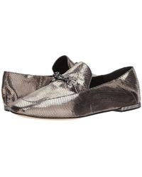 81f40336d Donna Karan - Debz Loafer (light Pewter Antique Metallic Leather) Slip On  Shoes -