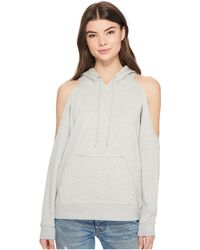 Romeo and Juliet Couture - Cold Shoulder Hoodie - Lyst