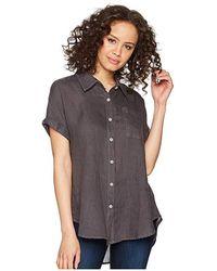 d472a1bd0e1 Allen Allen - Short Sleeve Camp Shirt (flint) Short Sleeve Button Up - Lyst
