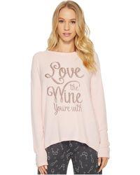 Pj Salvage - Love Revolution Wine Sweater - Lyst