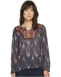 Cruel - Embroidered Peasant Sleeve Blouse - Lyst
