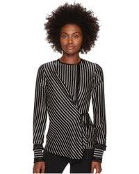 Yigal Azrouël - Fringe Detailed Stripe Tuxedo Shirt - Lyst