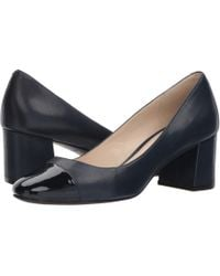 73def70a21b9 Lyst - Cole Haan Abigail Grand Point-toe Leather Stilettos in Blue