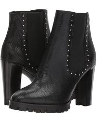 The Kooples - Reptile-effect Leather Boots With Studs - Lyst