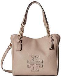 b271c39d99c4 Tory Burch - Harper Small Satchel (bedrock) Satchel Handbags - Lyst
