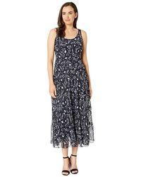 f70fa74f8da94 Nine West - Multi Tier Maxi Dress - Yoryu (navy/ivory) Dress -