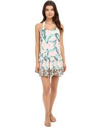 Maaji   Leafy Watercolor Cover-up Short Dress   Lyst