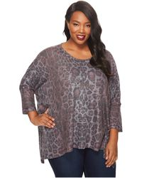 Nally & Millie - Plus Size Printed Leopard Top - Lyst