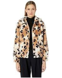 89d67d0cb5bd TOPSHOP. Rebecca Taylor - Cheetah Faux Fur Coat (cream Combo) Clothing -  Lyst