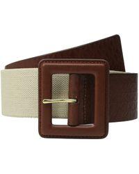 MICHAEL Michael Kors - 50mm Monogram Panel Belt On Self Cover Buckle - Lyst