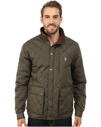 U.S. POLO ASSN. - Diamond Quilted Jacket - Lyst