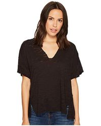 f5f2d0f7cf Free People Scoop V-neck Jersey T-shirt in Natural - Lyst