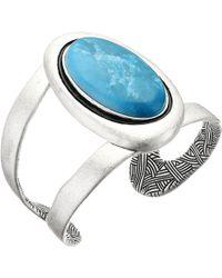 The Sak - Oval Stone Cuff Bracelet - Lyst