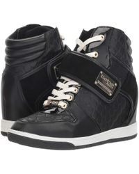b34dfd1eebcd Lyst - Bebe Womens Colby Hight Top Lace Up Fashion Sneakers in Black
