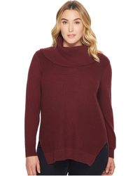 478797576e18a1 MICHAEL Michael Kors - Plus Size Shaker Long Sleeve Cowl Sweater - Lyst