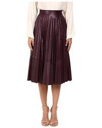 974fdd1b76 Prabal Gurung Chiffon Panel Pencil Skirt in White - Lyst