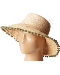 Hat Attack - Pom Pom Fringe Lampshade Sun Hat - Lyst