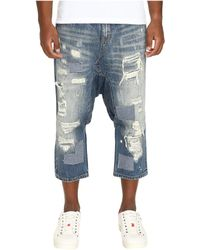 Mostly Heard Rarely Seen - Distressed Enzo Drop-crotch Jeans - Lyst
