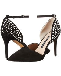 French Connection - Black Eletta Two-Piece Pumps - Lyst
