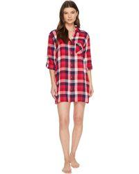 Lucky Brand - Flannel Button Down Sleepshirt - Lyst