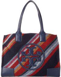 688d75c21431 Tory Burch - Ella Fabric Stripe Mini Tote - Lyst