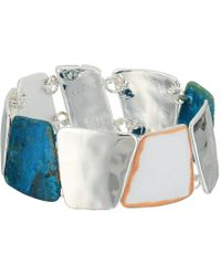 Robert Lee Morris - Silver And Patina Magnetic Bangle Bracelet - Lyst