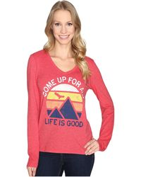 Life Is Good. - Come Up Air Mountains Long Sleeve Cool Vee - Lyst