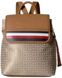 c5bbb0bed3 Lyst - Tommy Hilfiger Aurora Embellished Canvas Mini Backpack ...