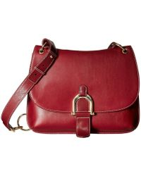596aac8aef334d Lyst - Sam Edelman Delilah Leather Saddle Crossbody Bag in Black