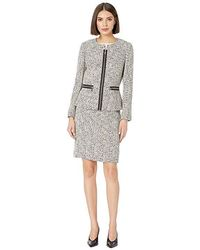 a99421c0f714e Tahari - Novelty Tweed Skirt Suit (ivory/black/yellow) Suits Sets -