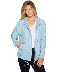 Two By Vince Camuto - Washed Indigo Anorak - Lyst
