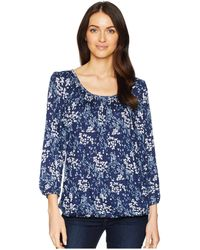 251573a13be27 MICHAEL Michael Kors - Scatter Blooms Peasant Top - Lyst