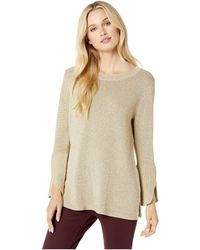 e71e78fb1e Calvin Klein - Lurex Bell Sleeve Sweater - Lyst
