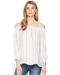 e02ae13cbd4f2 Two By Vince Camuto - Long Sleeve Off Shoulder Seashore Stripe Linen Blouse  - Lyst