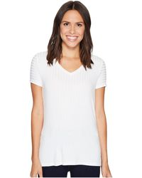 Ivanka Trump   Knit V-neck Tee With Grommets   Lyst