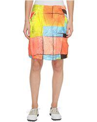 Jamie Sadock - Glow Print Cruncy Fabric Side Zip And Button 18 In. Skort - Lyst