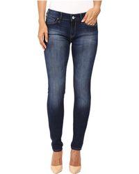 Mavi Jeans - Adriana Mid-rise Super Skinny In Indigo Tribeca - Lyst