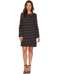 Two By Vince Camuto - Ruched Bell Sleeve Nova Stripe Knit Dress - Lyst