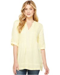 Dylan By True Grit | Pintuck Washed Linen Tunic | Lyst