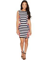 Tahari - Petite Stripes And Florals Sheath Dress - Lyst