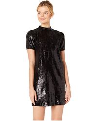 ac9277d1246 Michael Kors Studded Logo Sweatshirt Dress in Black - Lyst